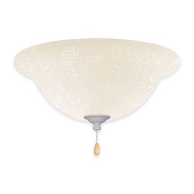 Emerson White Linen Bowl Light Kit for Ceiling Fan in Summer White