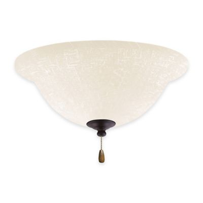 Emerson White Linen Bowl Light Kit for Ceiling Fan in Oil Rubbed Bronze