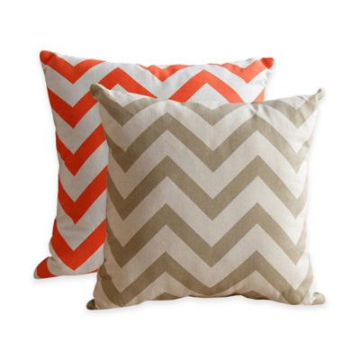 Square Pillow in Orange