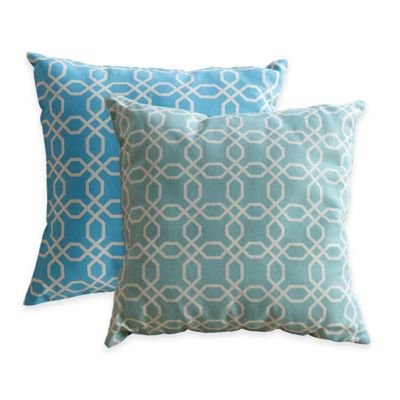 Abbyson Living® Hadley 18-Inch Square Hadley Pillow in Teal (Set of 2)