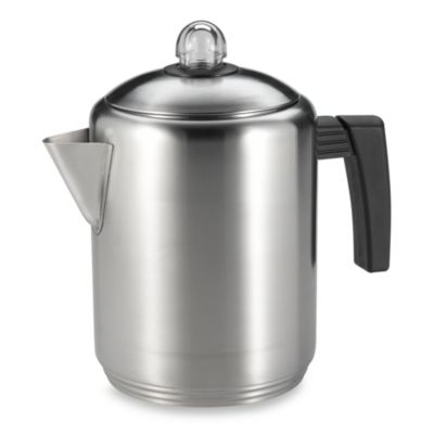 Copco Brushed Stainless Steel 6-Cup Stovetop Percolator
