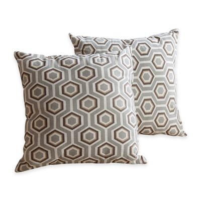Abbyson Living® Owen Square Throw Pillow in Grey (Set of 2)