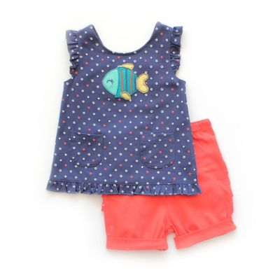 Navy Top and Bloomer Set