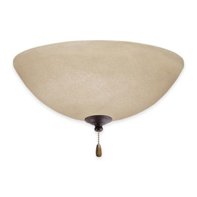 Emerson Amber Mist Bowl Light Kit for Ceiling Fan in Distressed Bronze