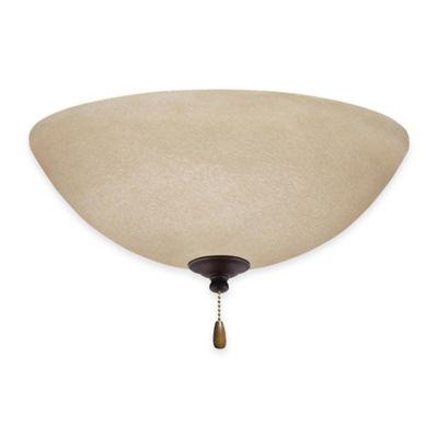 Emerson Amber Mist LED Bowl Light Kit For Ceiling Fan in Golden Espresso
