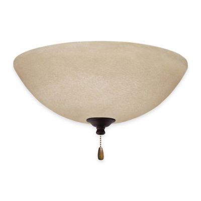 Emerson Amber Mist LED Bowl Light Kit For Ceiling Fan in Venetian Bronze