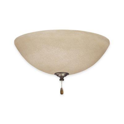 Emerson Amber Mist LED Bowl Light Kit For Ceiling Fan in Vintage Steel