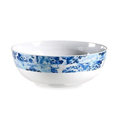 Blue Floral Melamine Large Bowl