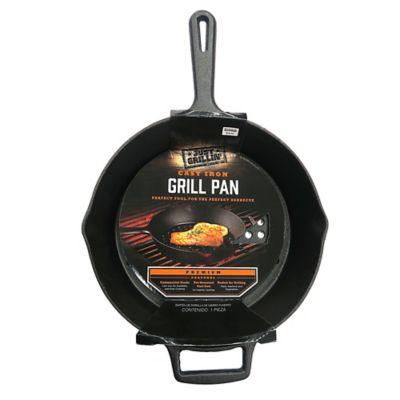 Just Grillin' Premium Cast Iron Grill Pan