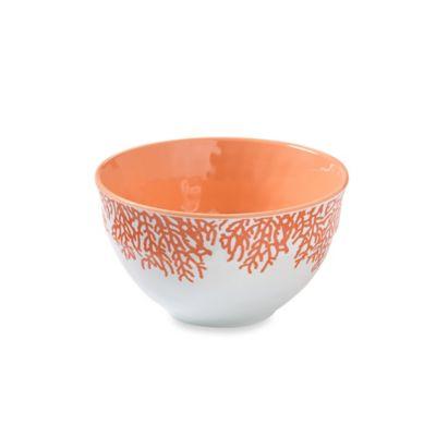 Coral Melamine Salad Bowl
