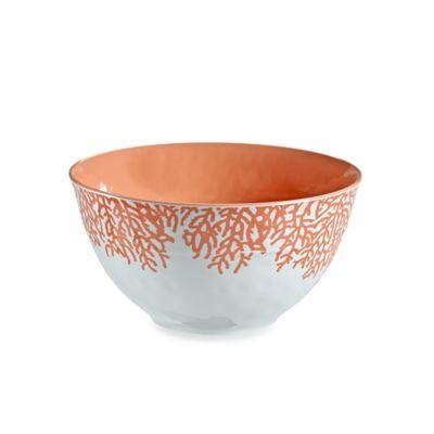 Coral Melamine Serve Bowl