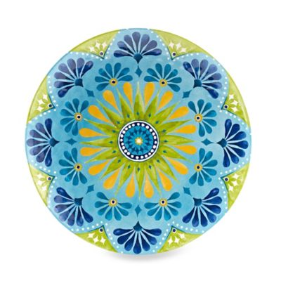 Gypsy Textured Dinner Plate in Lime Green