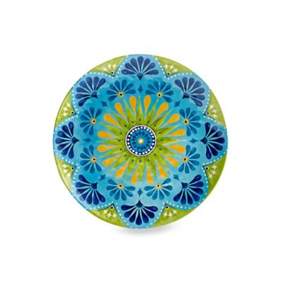 Gypsy Textured Salad Plate in Lime Green