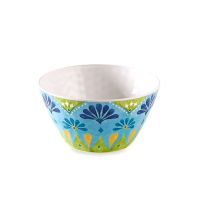 Gypsy Textured Large Cereal Bowl in Lime Green