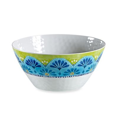Gypsy Textured Large Serve Bowl in Lime Green