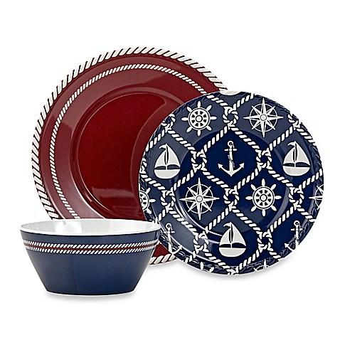 Nautical Melamine Dinnerware Www Bedbathandbeyond Com