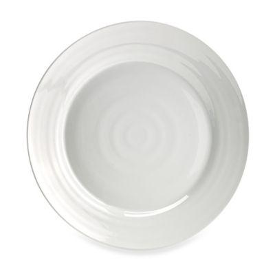 Solid Melamine Dinner Plate in White