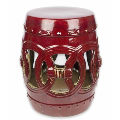Abbyson Living® Yasmine 17-Inch Ceramic Garden Stool in Antique Red