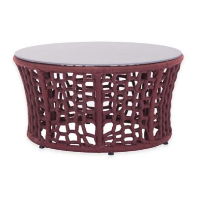 Zuo® Faye Bay Beach Outdoor Coffee Table in Red/Grey