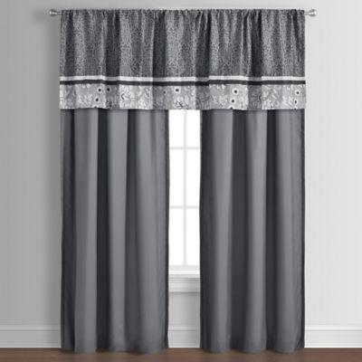 Sanibel 84-Inch Window Curtain Panel Pair in Grey
