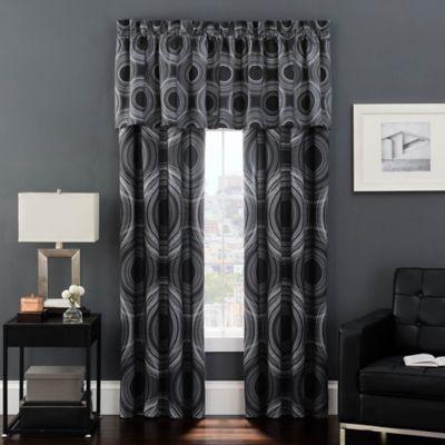 Baldwin 84-Inch Window Curtain Panel Pair in Black/Grey