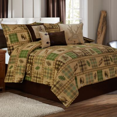 Woodland King Duvet Cover Set in Tan/Brown