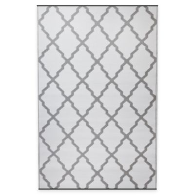 Fab Habitat Bermuda 4-Foot x 6-Foot Recycled Patio Mat in Grey