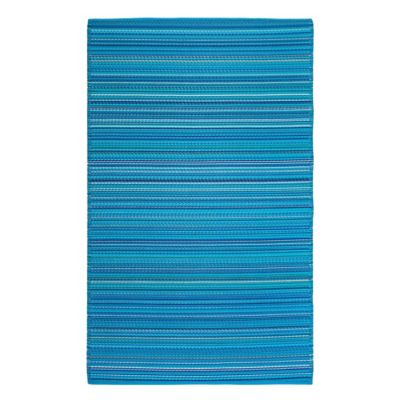 Fab Habitat Havana 6-Foot x 9-Foot Patio Mat in Turquoise