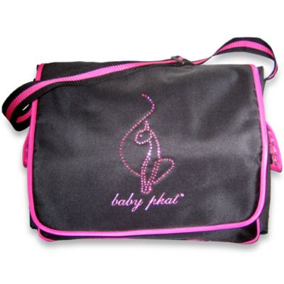 Baby Phat Pink and Black Diaper Bag