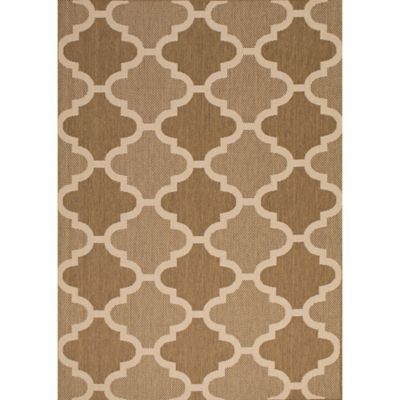 Paton Indoor/Outdoor 8-Foot x 10-Foot Area Rug in Brown/Beige