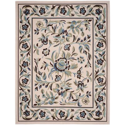 Garden Blue 8-Foot x 10-Foot Indoor/Outdoor Area Rug