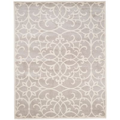 The Scroll Grey 8-Foot x 10-Foot Indoor/Outdoor Area Rug