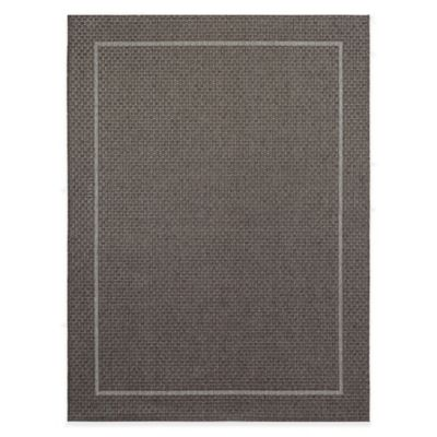 Miami Border 7-Foot 10-Inch x 10-Foot Indoor/Outdoor Area Rug in Grey