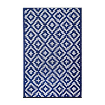 Fab Habitat Mykonos 6-Foot x 9-Foot Recycled Area Rug in Blue