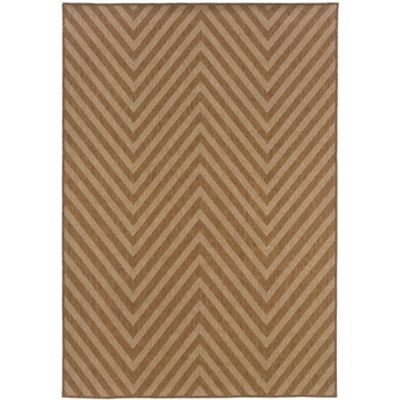Seagrass Chevron 8-Foot x 10-Foot Indoor/Outdoor Area Rug in Natural