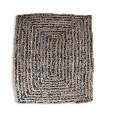 Handwoven Denim Hemp 2-Foot x 3-Foot Accent Rug in Blue