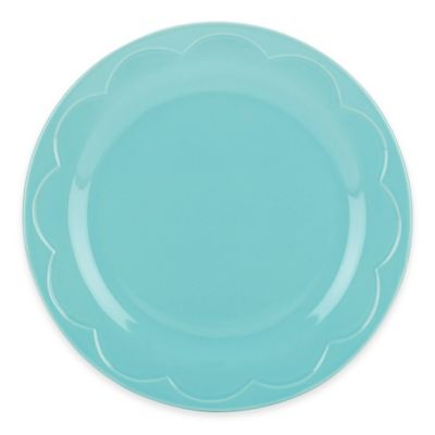 kate spade new york All In Good Taste Sculpted Scallop Accent Plate in Turquoise