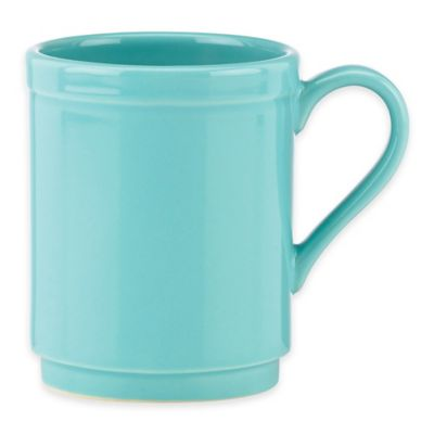 kate spade new york All In Good Taste Sculpted Scallop Mug in Turquoise
