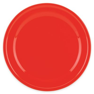 kate spade new york All In Good Taste Sculpted Scallop Dinner Plate in Red
