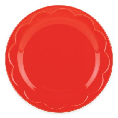 kate spade new york All In Good Taste Sculpted Scallop Accent Plate in Red