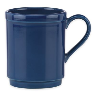 kate spade new york All In Good Taste Sculpted Scallop Mug in Navy