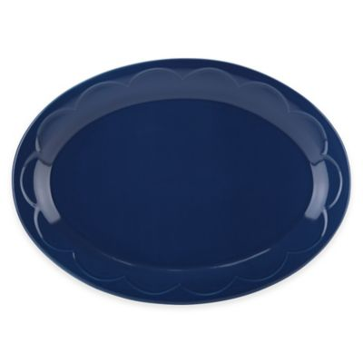 kate spade new york All In Good Taste Sculpted Scallop Platter in Navy