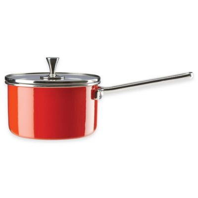 kate spade new york All In Good Taste 2 qt. Saucepan in Red
