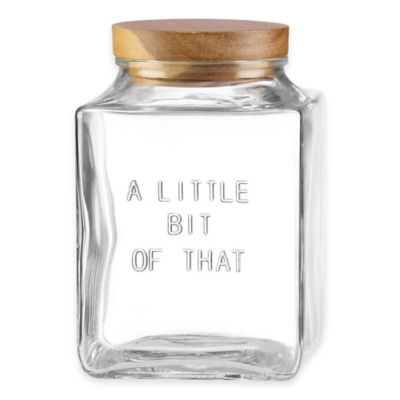 "kate spade new york All In Good Taste ""A Little Bit Of That"" Glass Canister"