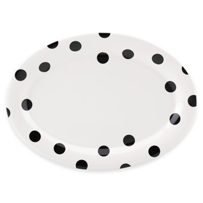 kate spade new york All in Good Taste™ Deco Dot 14-Inch Oval Platter