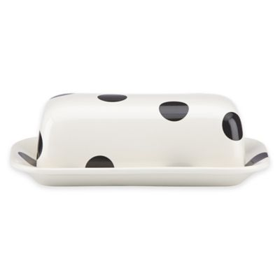 kate spade new york All in Good Taste™ Deco Dot Covered Butter Dish