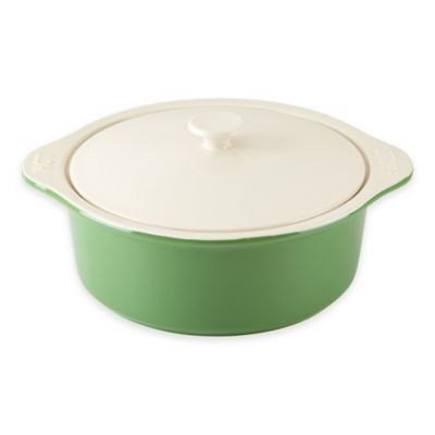 """kate spade new york All In Good Taste """"Hot Stuff"""" 8.75-Inch Casserole with Lid in Green"""