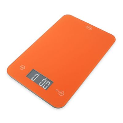 American Weigh Scales ONYX Slim Kitchen Scale in Orange