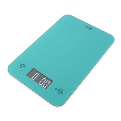 American Weigh ONYX Slim Kitchen Scale in Turquoise