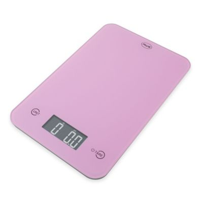 American Weigh ONYX Slim Kitchen Scale in Pink